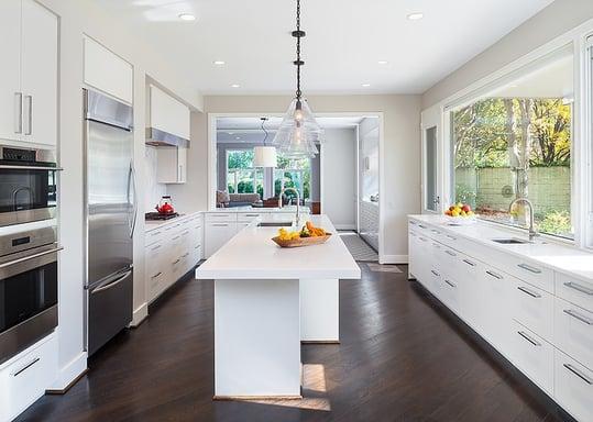 White Contemporary Kitchen Renovation