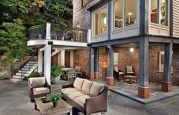 Iron Railing Deck & Stairs