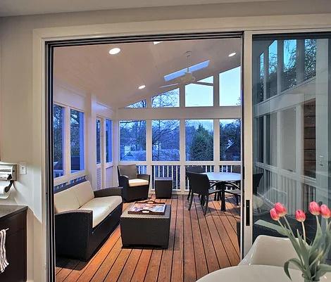 Modern Porch Addition and Kitchen