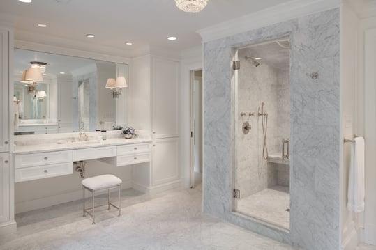 White Marble Master Bath