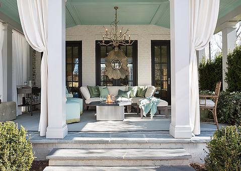 open porch designed by Nancy Colbert