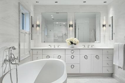 completed Bethesda master bathroom remodeling