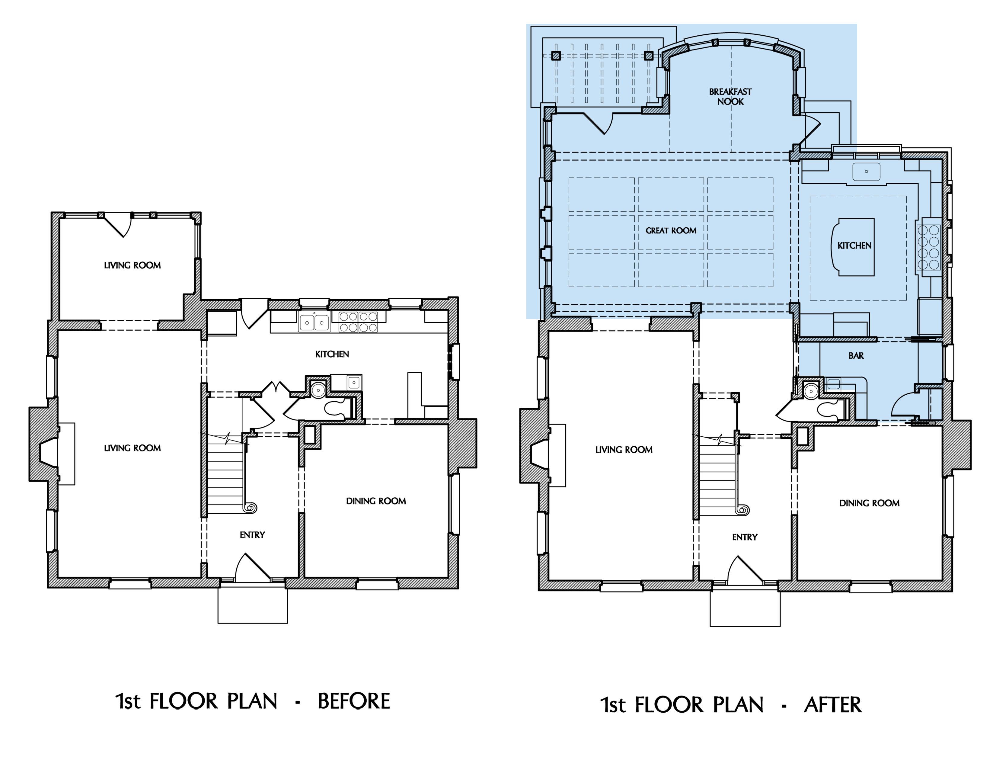 FLOOR PLAN Washington DC family room addition