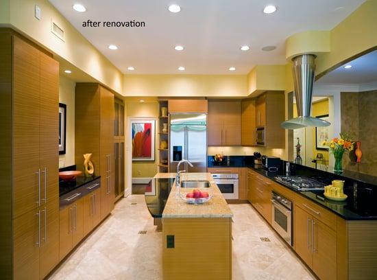 potomac kitchen with 2 types granite countertop
