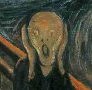 horrific scream of embarassment