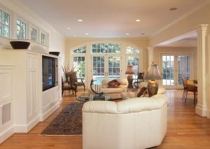 interior family room addition