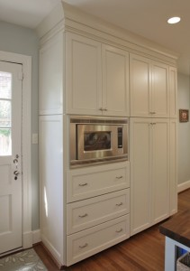 arlington kitchen design with built-in pantry microwave cabinet