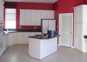 poorly designed kitchen island