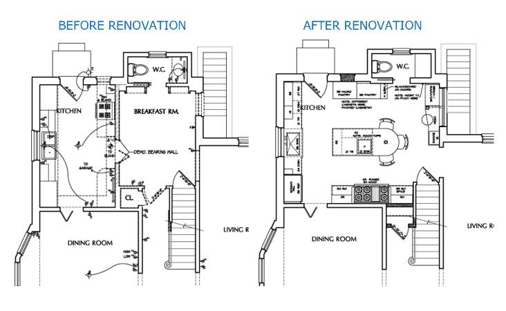 AU Park kitchen reconfigure