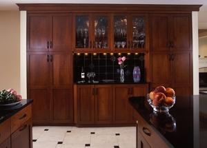 cherry wood kitchen remodel spring valley dc