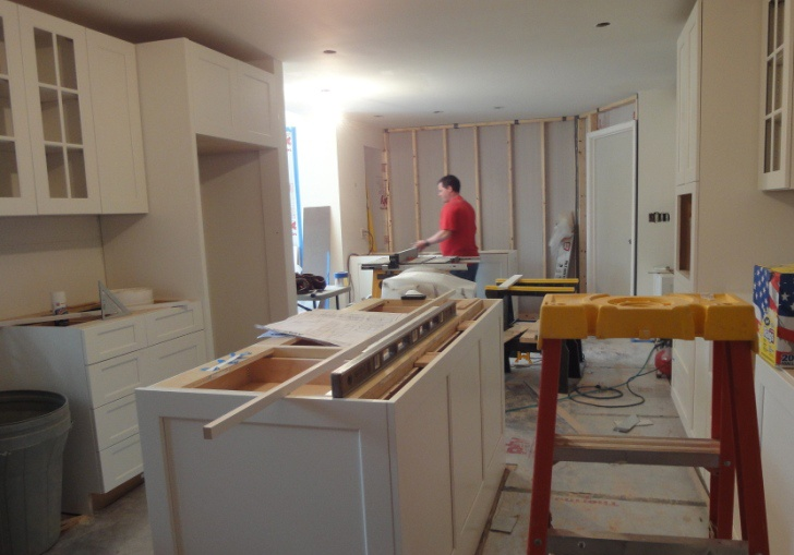 kitchen design project in progress-McLean Va