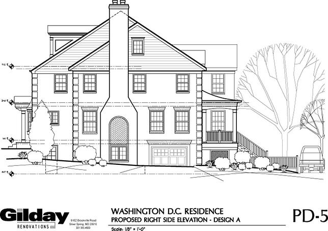 architect's sketch of DC Home Addition