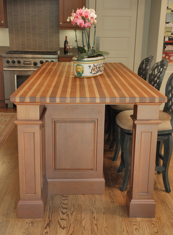 kitchen remodeling with butcher block  countertop