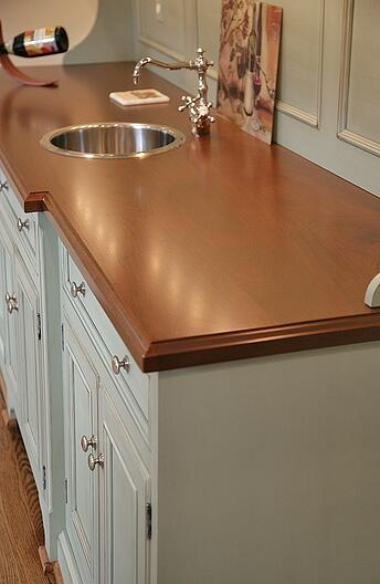 kitchen remodeling with solid wood countertop