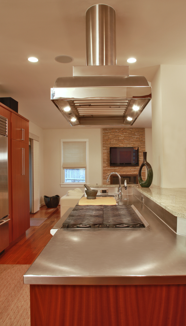 kitchen remodeling with stainless steel countertop