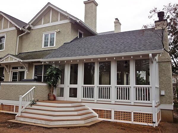 porch addition to chevy chase victorian era home