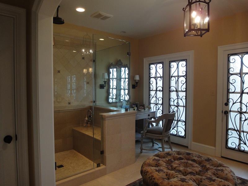 tuscan style master bathroom