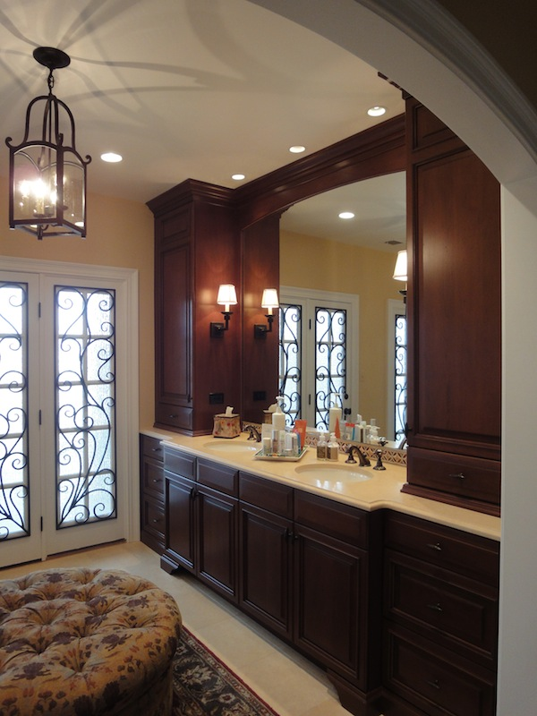 Tuscan style master bathroom remodeling