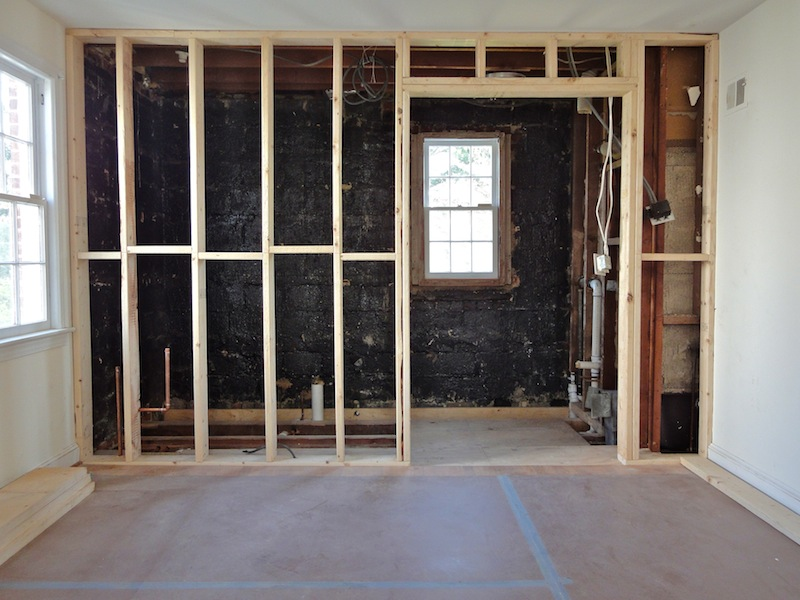 gilday renovations master bath remodeling in progress chevy chase dc
