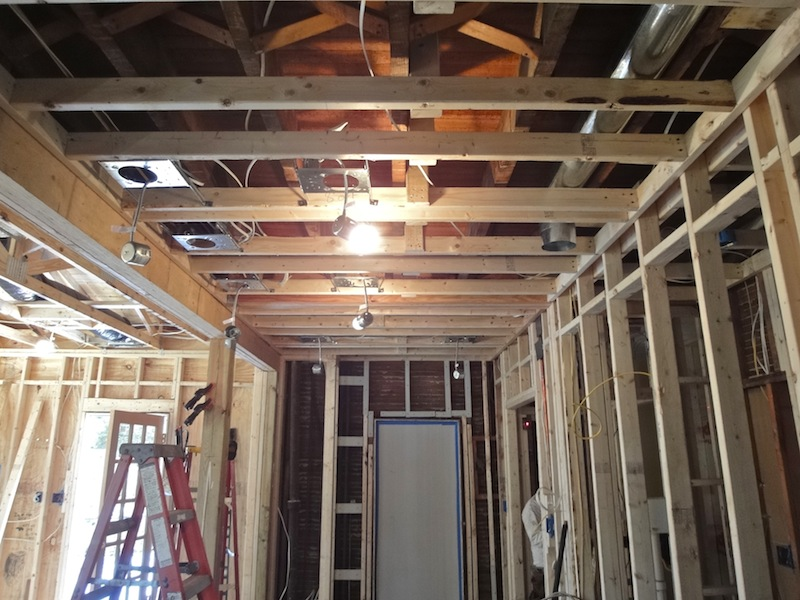 gilday renovations framing for a kitchen addition