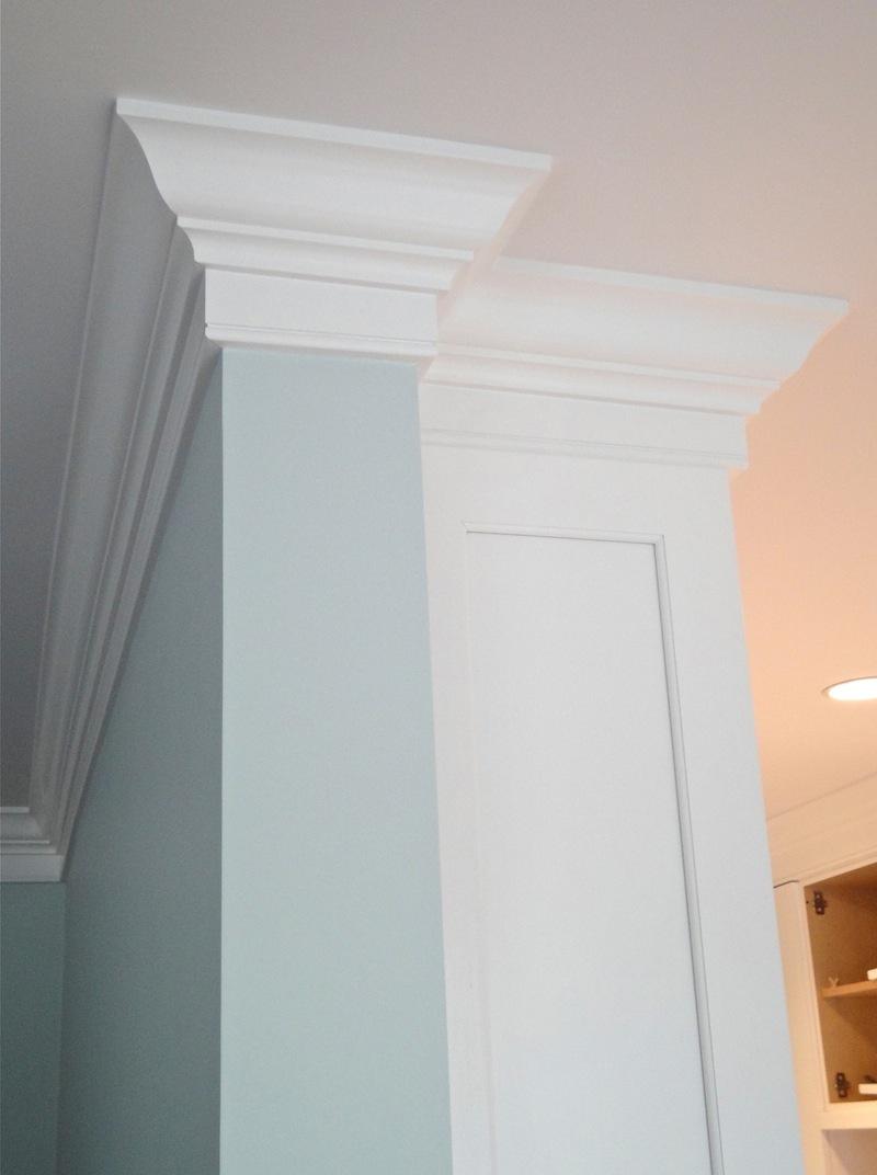 crown molding in condo renovation