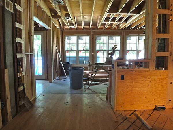 rough framing a home addition