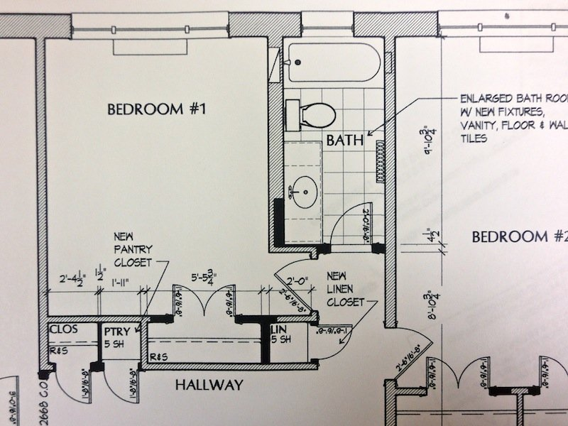 DESIGN PLAN FOR CONDO BATH REMODEL BY GILDAY RENOVATIONS