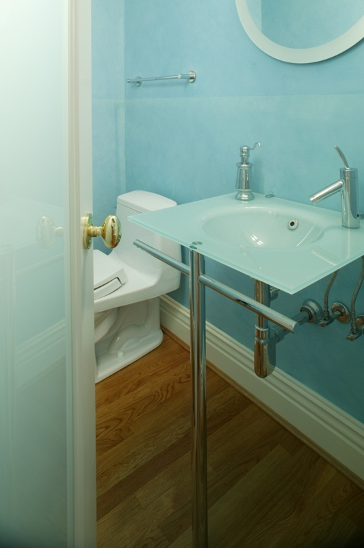 contemporary style bath remodel by Gilday Renovations
