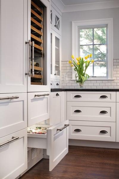 specialty kitchen cabinet chiller drawer