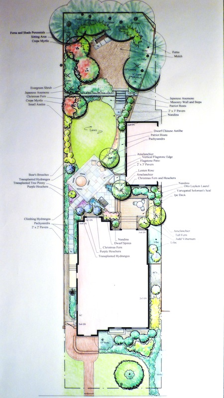 garden plan for two story addition in washington dc