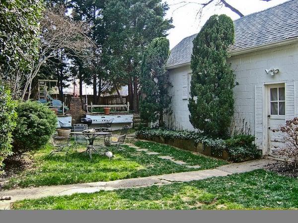 backyard BEFORE renovation