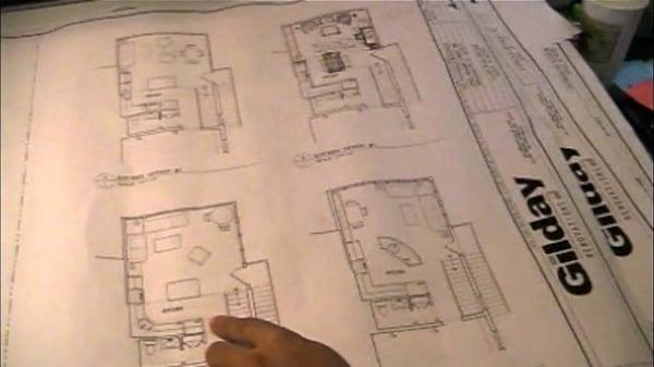 design plan showing four options