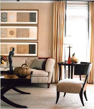 a transition style interior design concept