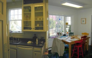 ugly kitchen and breakfast room