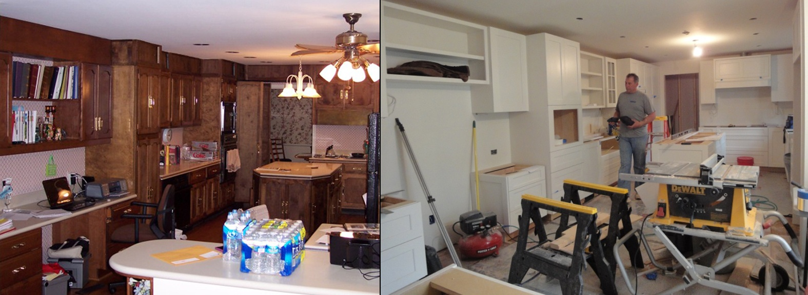 kitchen design BEFORE and AFTER