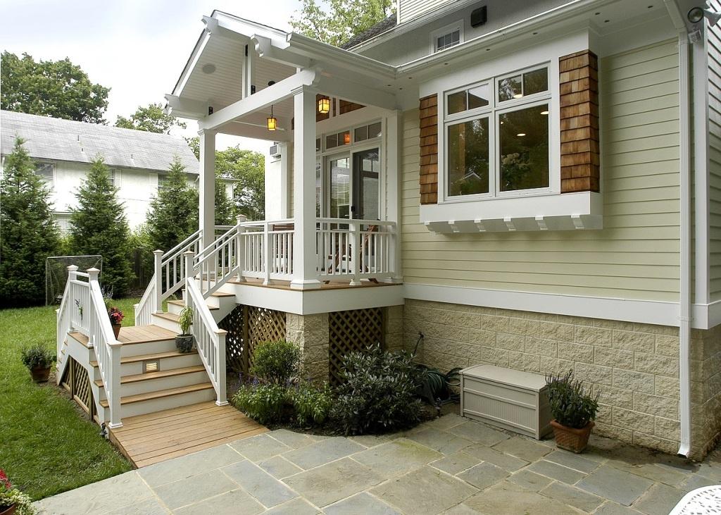 cottage style back porch