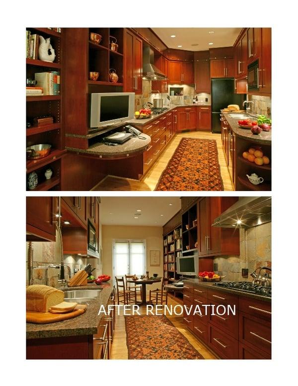 kalorama 70's kitchen after renovation