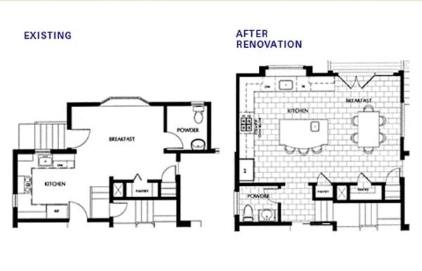floorplan for kitchen breakfast room addition