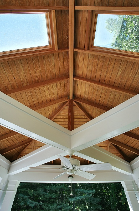 a screened porch addition to a McLean residence