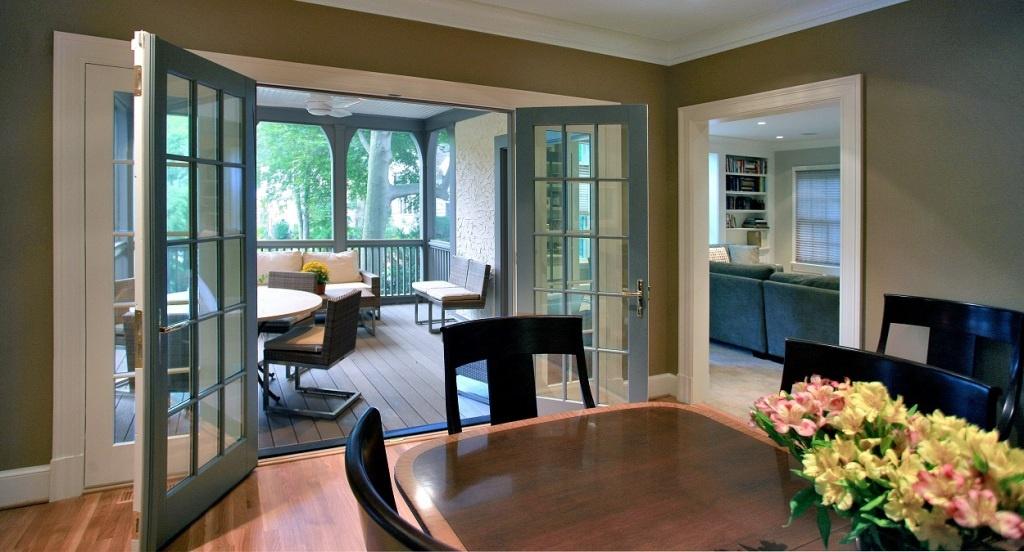 porch interior & dining room