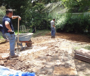backyard-rain-garden-in-progress