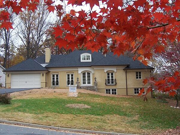 completed whole house renovation in French Country style