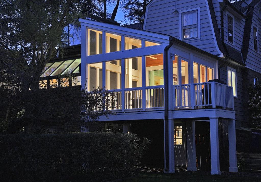 transitional styl porch addition