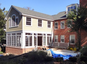 home addition in progress chevy chase md