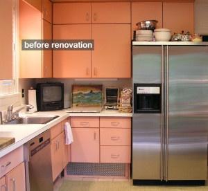 before renovation-70's kitchen