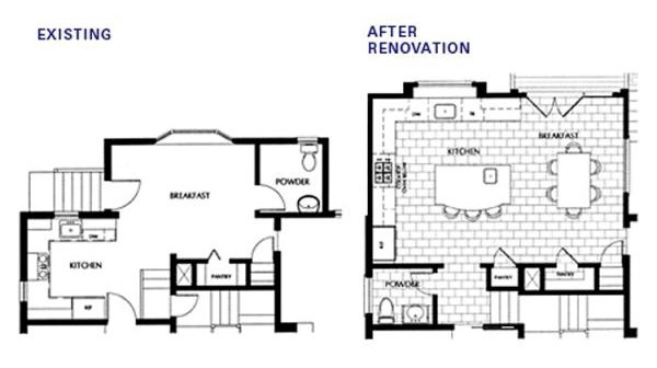 home addition before-after-floor-plans