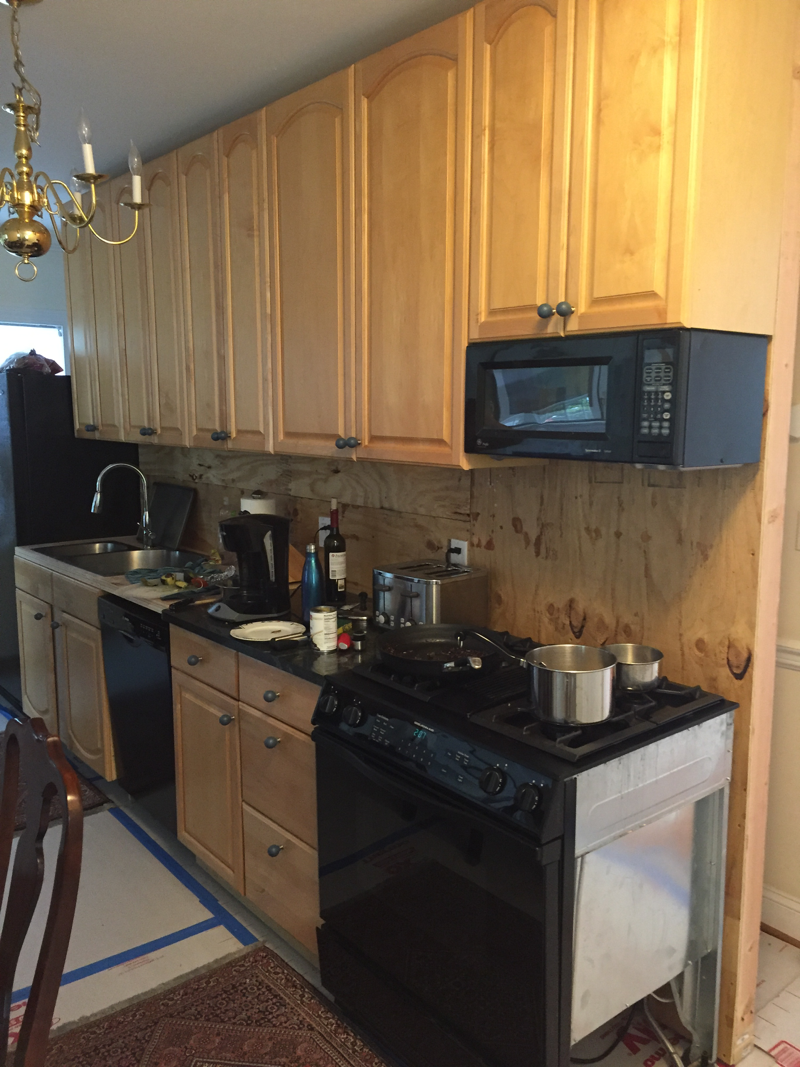 temporary kitchen for another chevy chase kitchen remodel