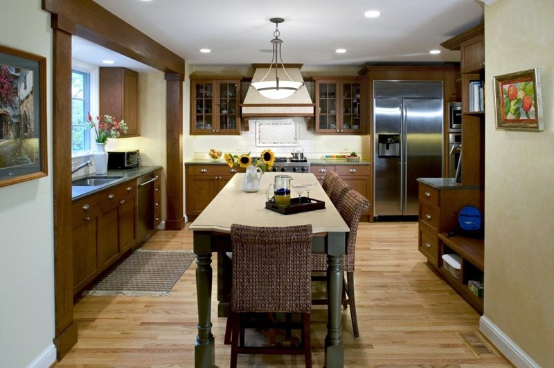 interior of kitchen bump out addition