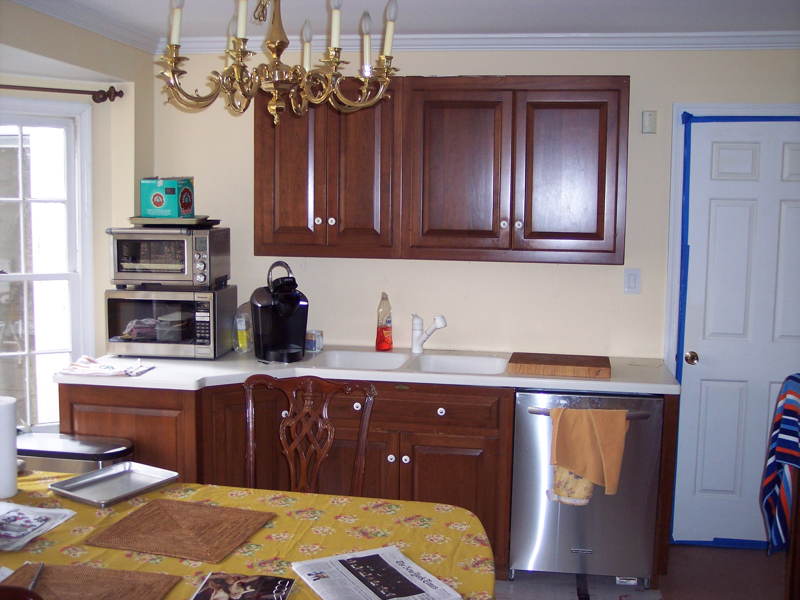 temporary kitchen for Chevy Chase kitchen remodel