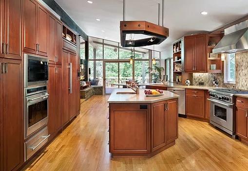 Potomac MD Open Kitchen & Breakfast Room